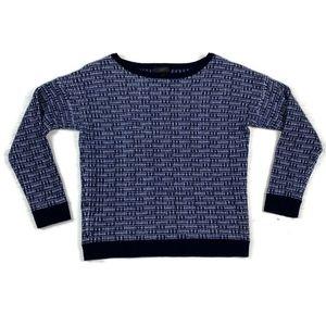 J Crew Crew Neck Tweed Metallic Sweater Wool